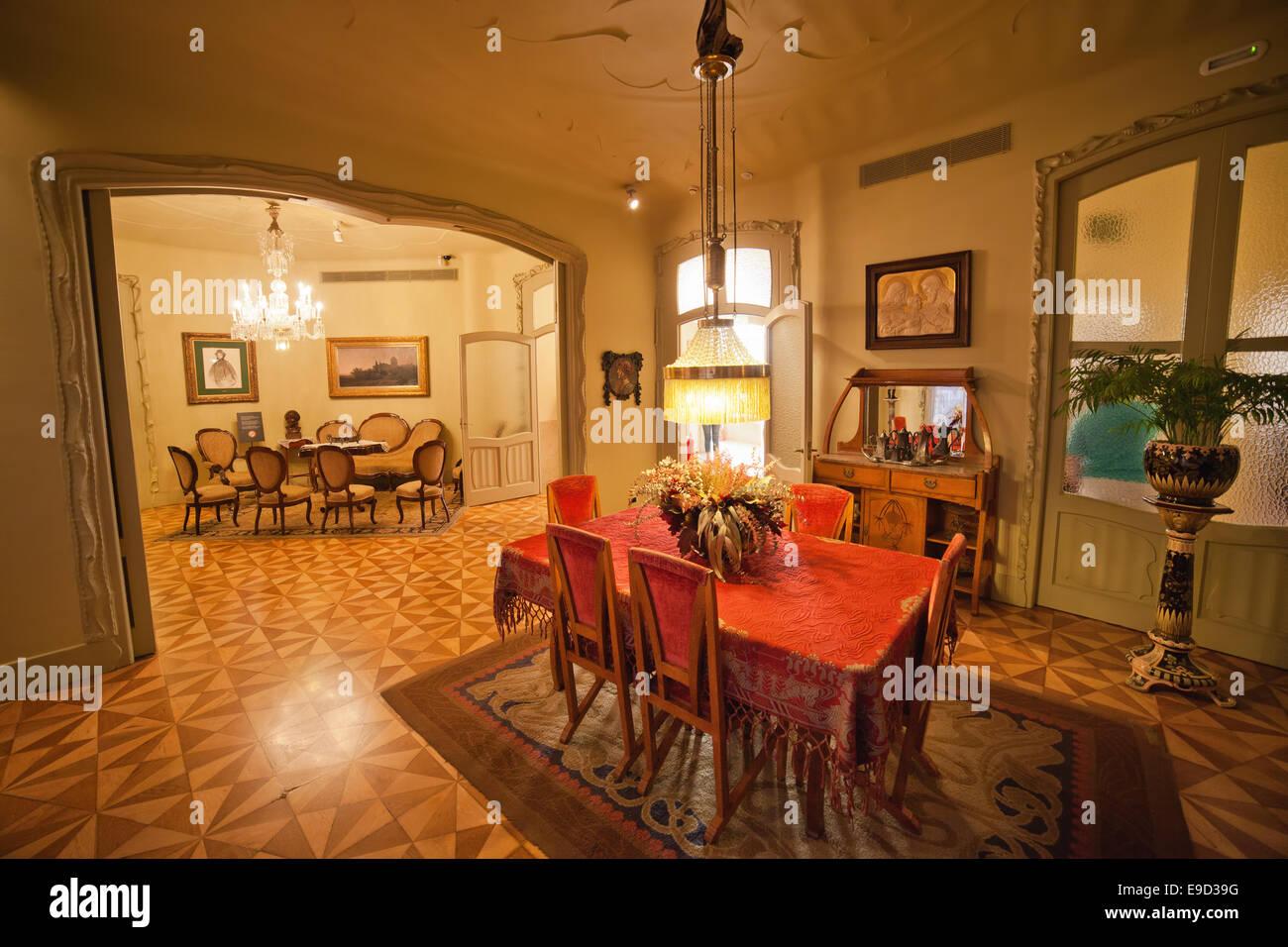 Dining Room Of The Casa Mila La Pedrera By Antoni Gaudi