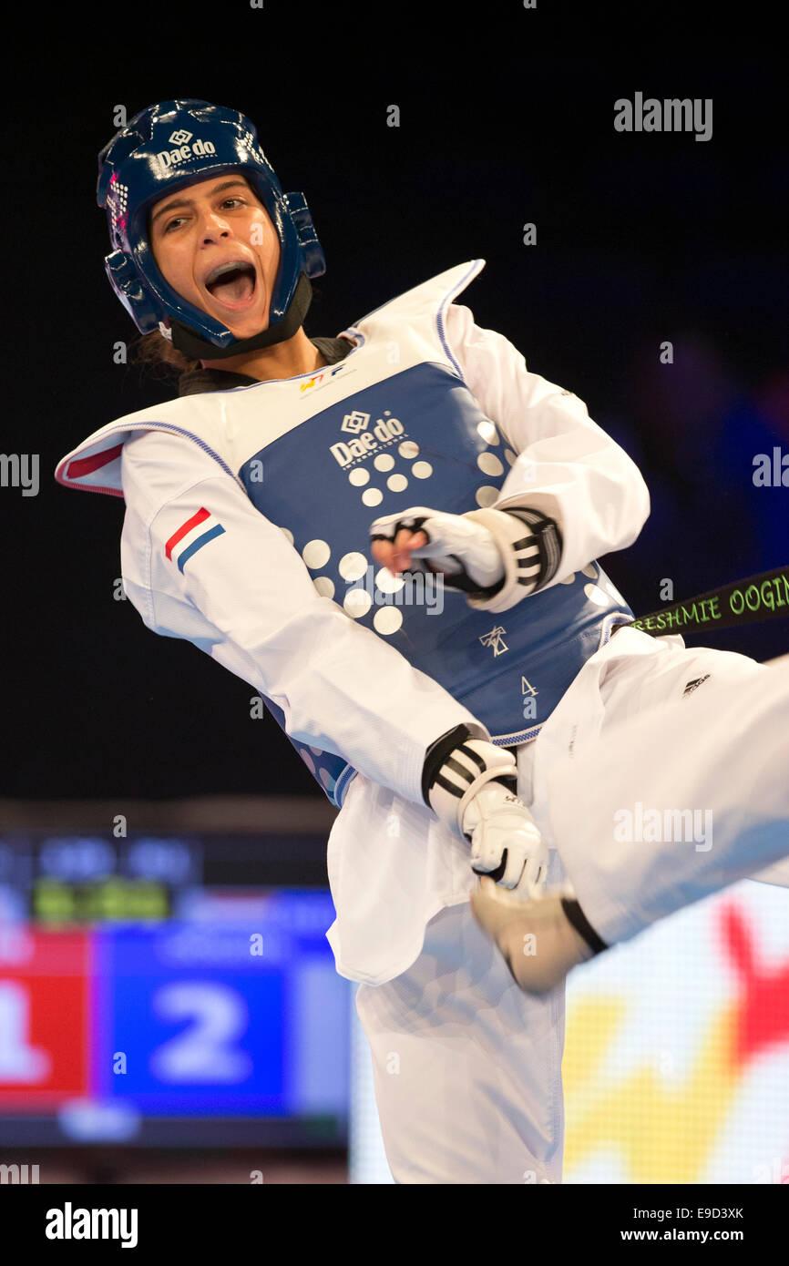 Manchester, UK. 24th Oct, 2014. Semi Final Female +67kg Asena AYDIN ...