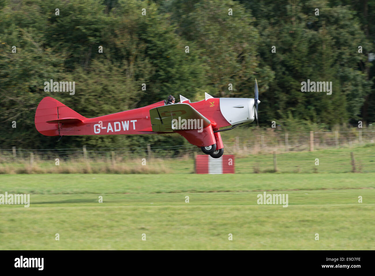 Biggleswade UK - 5th October, 2014: Miles Hawk vintage aircraft at the Shuttleworth Collection airshow - Stock Image