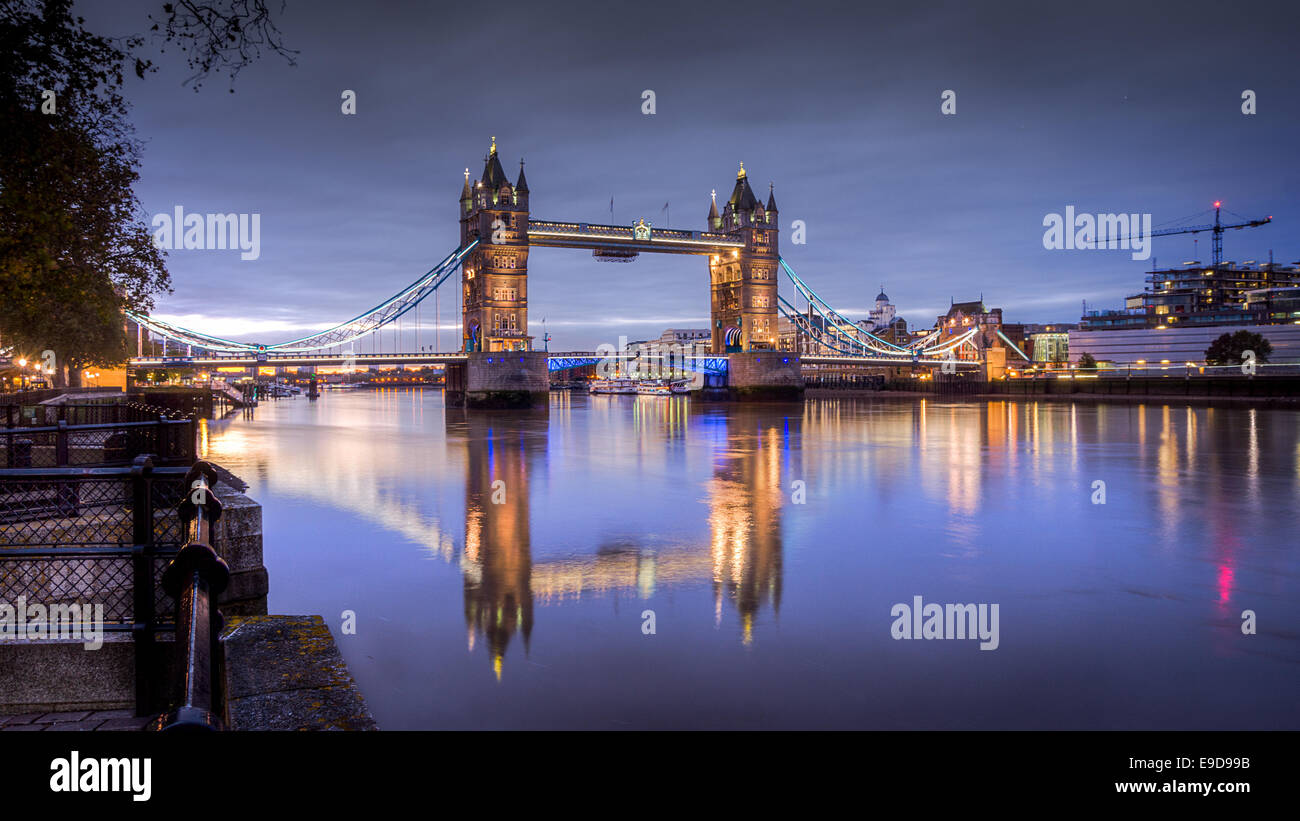 Hdr Image of Tower bridge - Stock Image