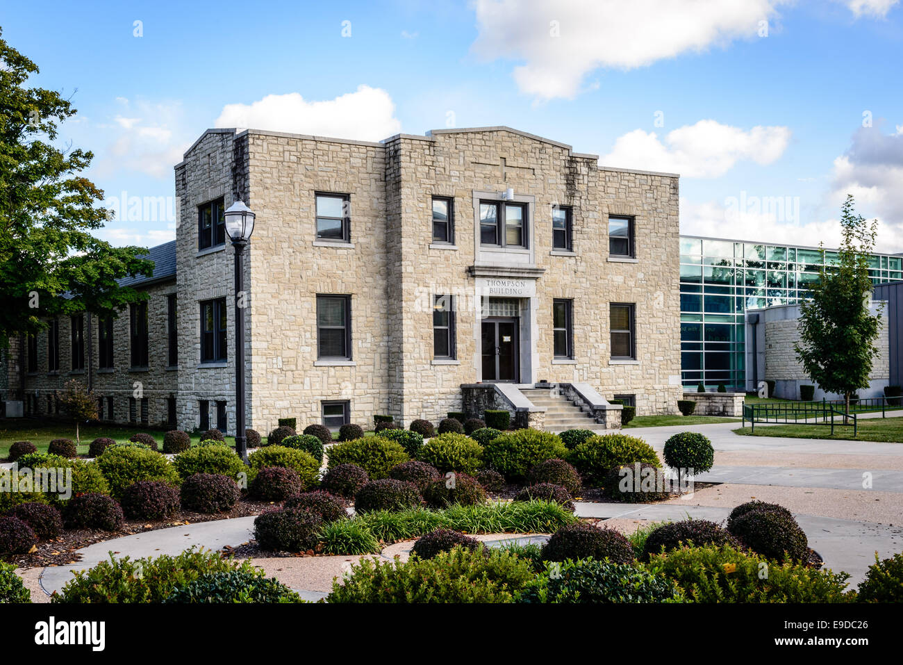 Thompson Building, College of the Ozarks (Hard Work U), Point Lookout, Missouri - Stock Image