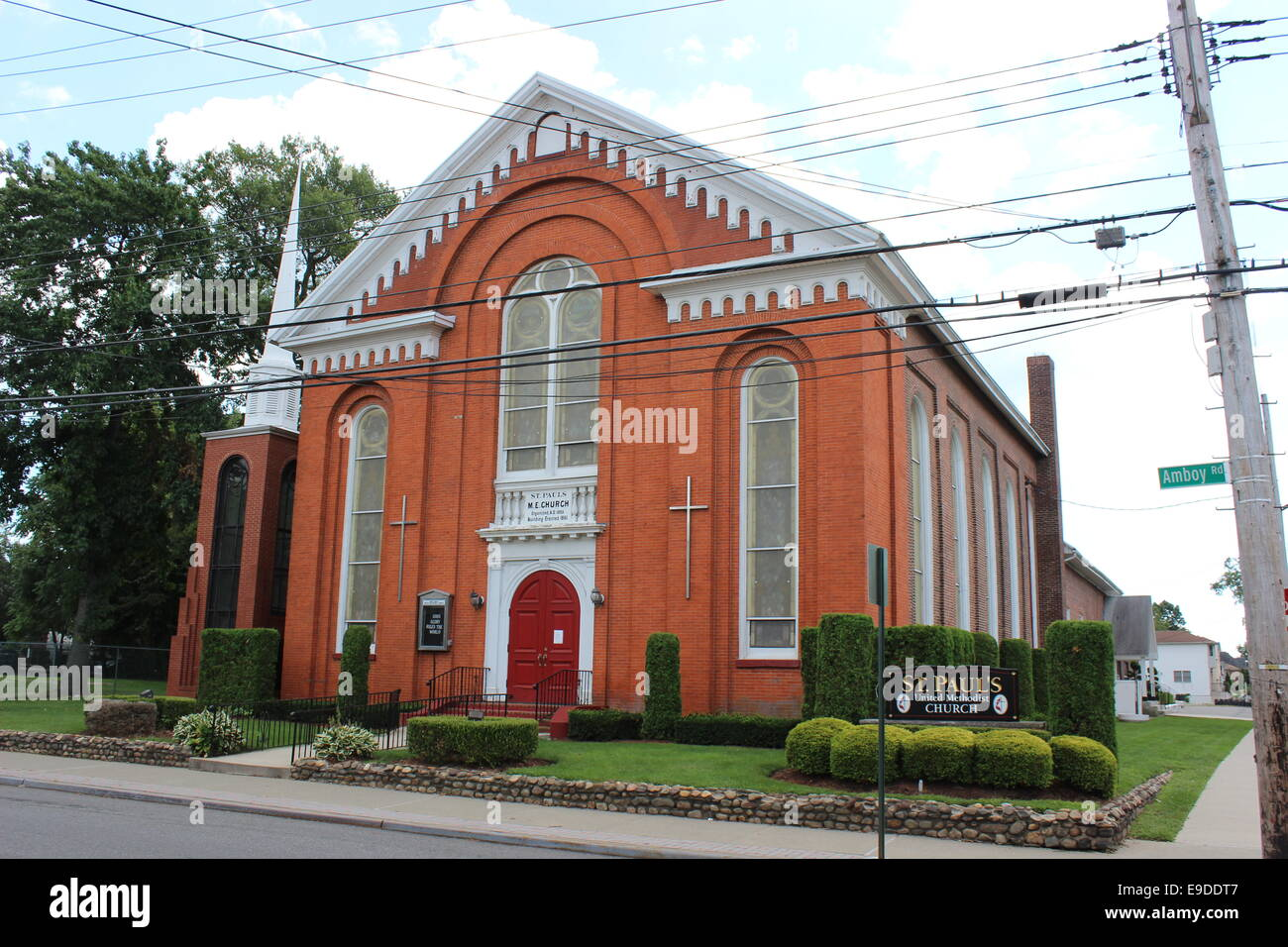 St. Paul's United Methodist Church, built in 1883 in Tottenville, Staten Island, New York - Stock Image