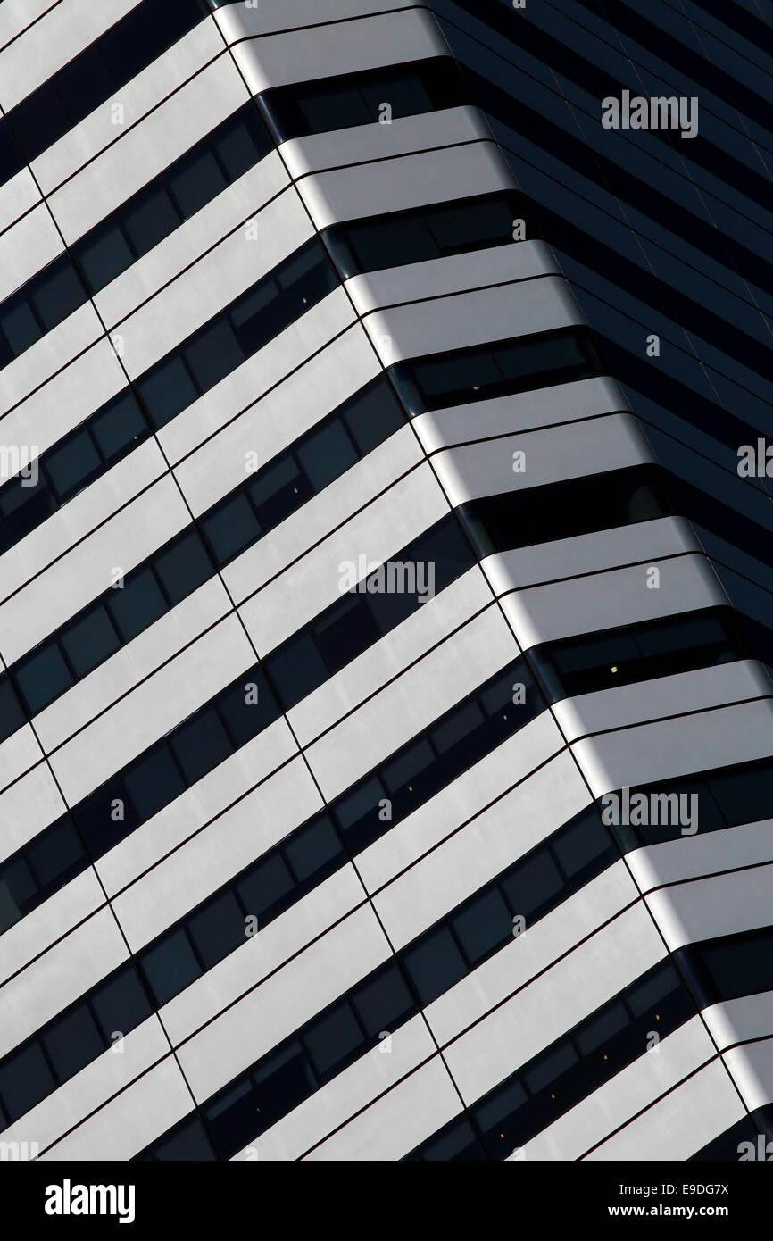 Raffles City tower, Singapore - Stock Image