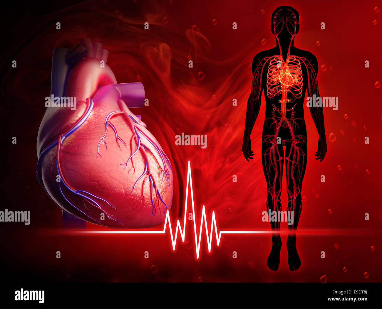 Illustration of heart beat diagram Stock Photo ... on