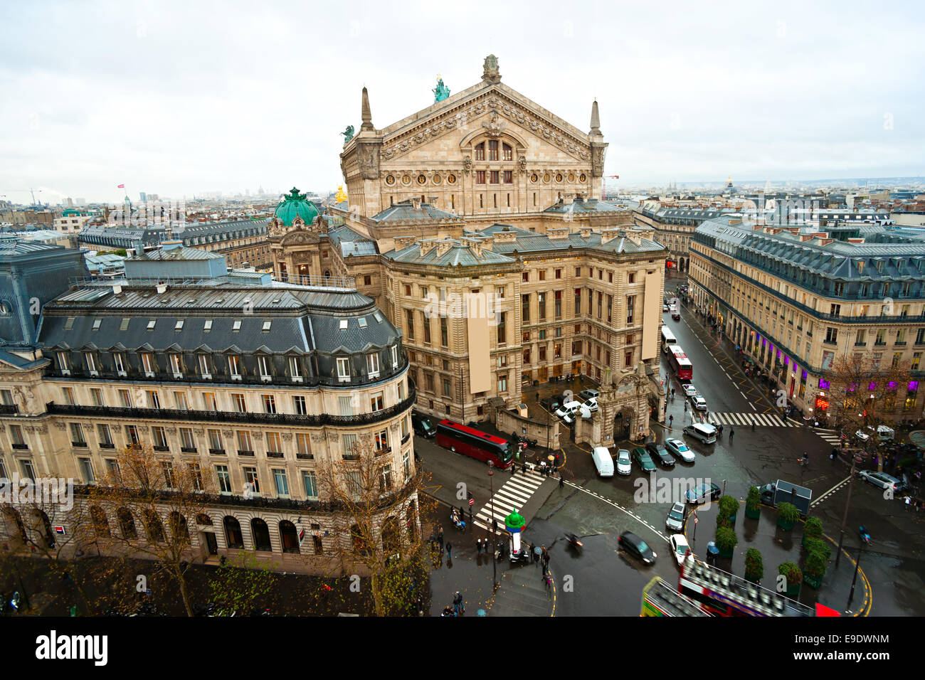 view of opera Garnier, Paris, France. - Stock Image
