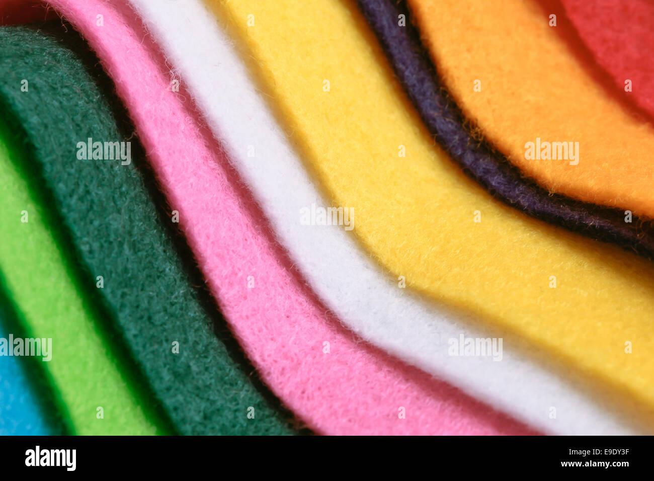 Selection of colorful felt sheets Stock Photo