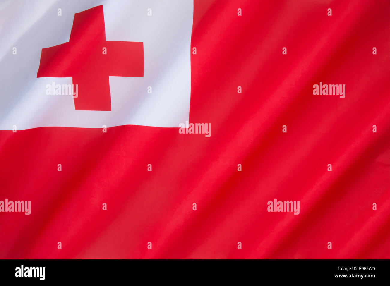Flag of Tonga - Stock Image