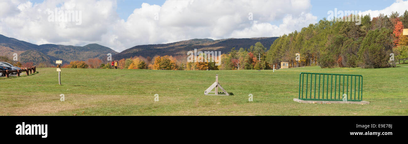 Field in the Trapp Family Resort - Stock Image