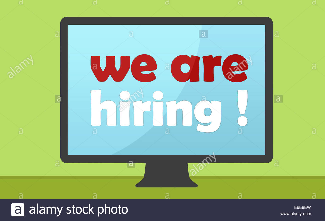 WE ARE HIRING - concept - Stock Image