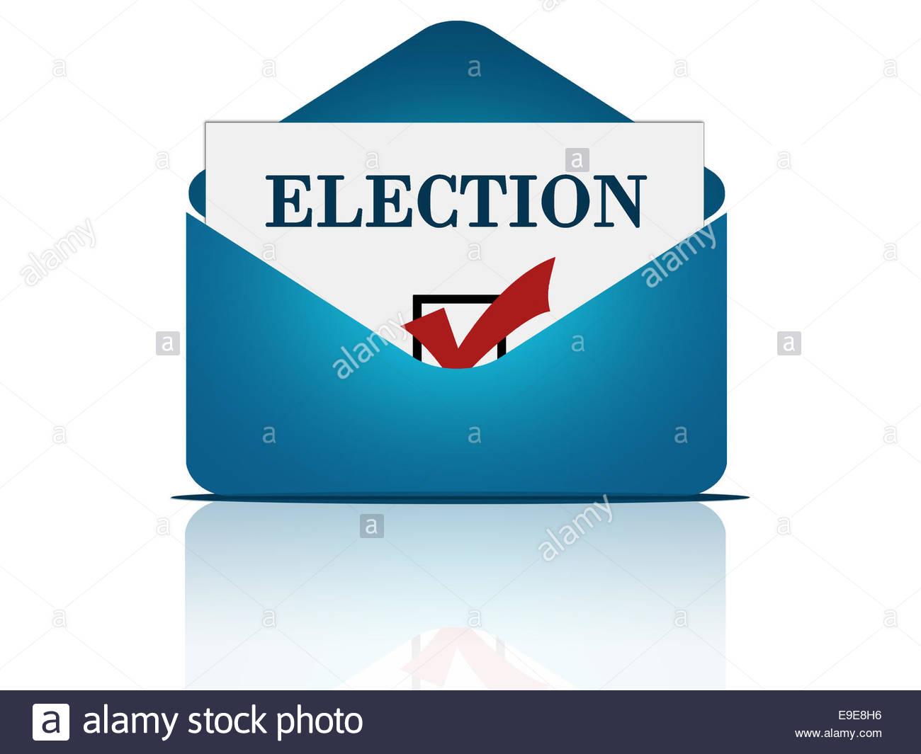 Postal voting concept - Stock Image