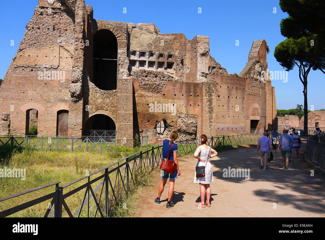 Palantine Hill, Rome, Italy. Part of the Imperial Palace. - Stock Image