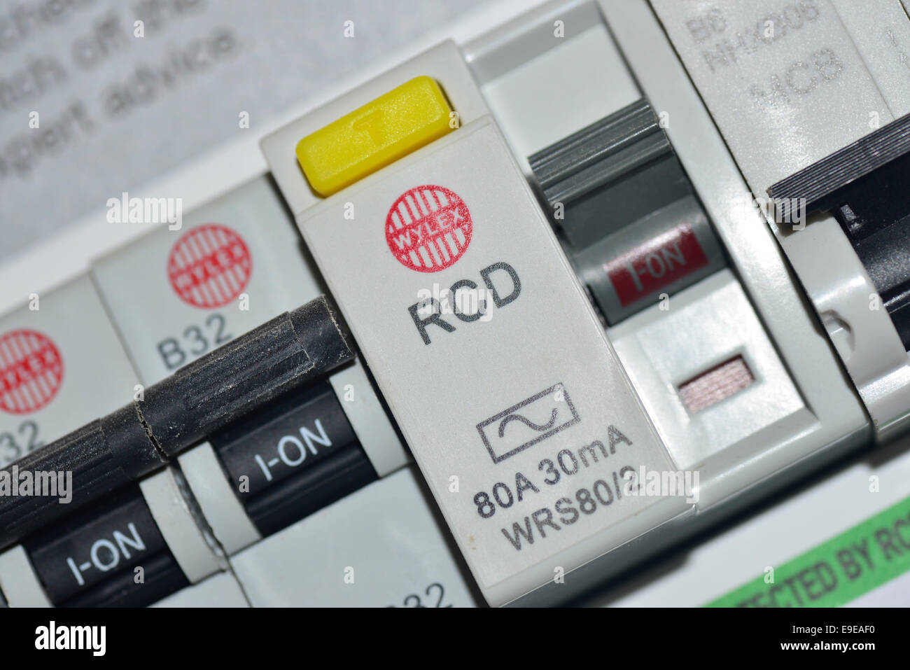 Fuse Box Circuit Breaker Stock Photos Main Switches In A Fusebox Image