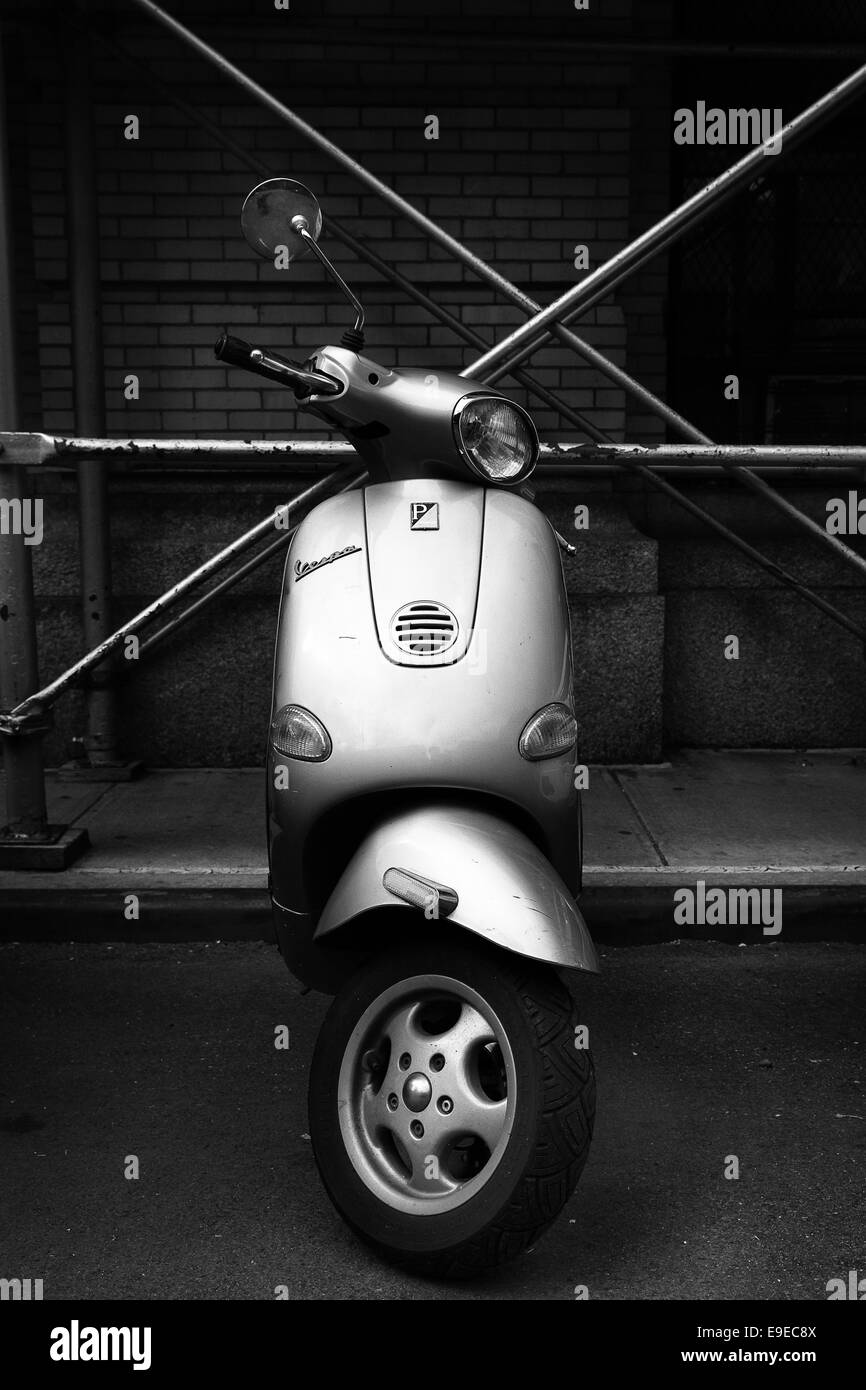 Parked Scooter - Stock Image
