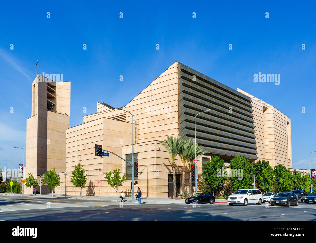 Cathedral of Our Lady of the Angels, Temple Street, downtown Los Angeles, California, USA - Stock Image