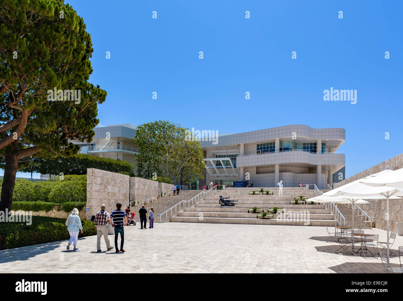 The Getty Center museum complex, Brentwood, Los Angeles, California, USA - Stock Image