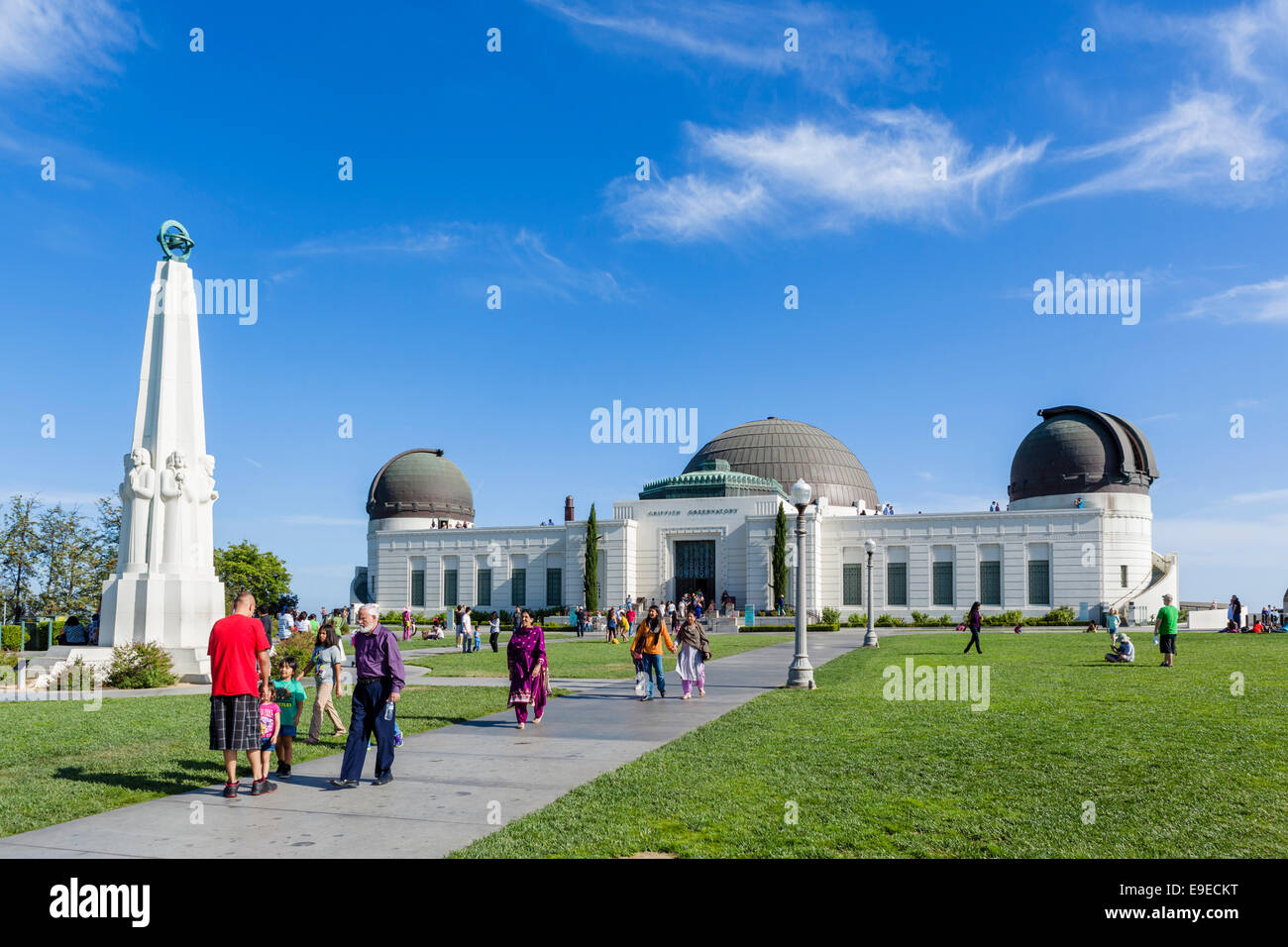 The Griffith Observatory on Mount Hollywood, Griffith Park, Los Angeles, California, USA - Stock Image
