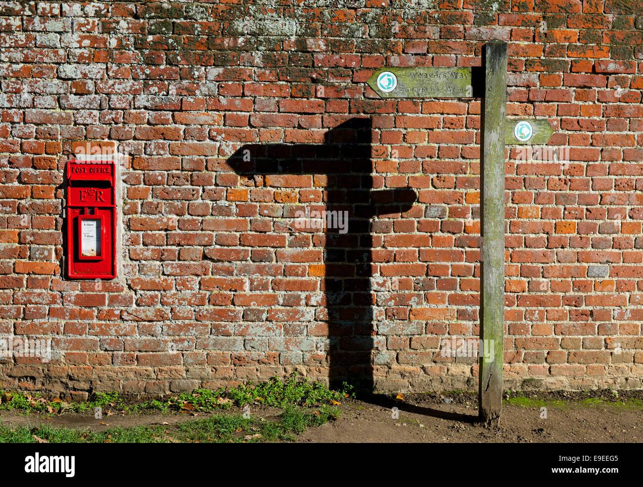 Fingerpost for the Weavers Way, Blickling, Norfolk, England UK - Stock Image