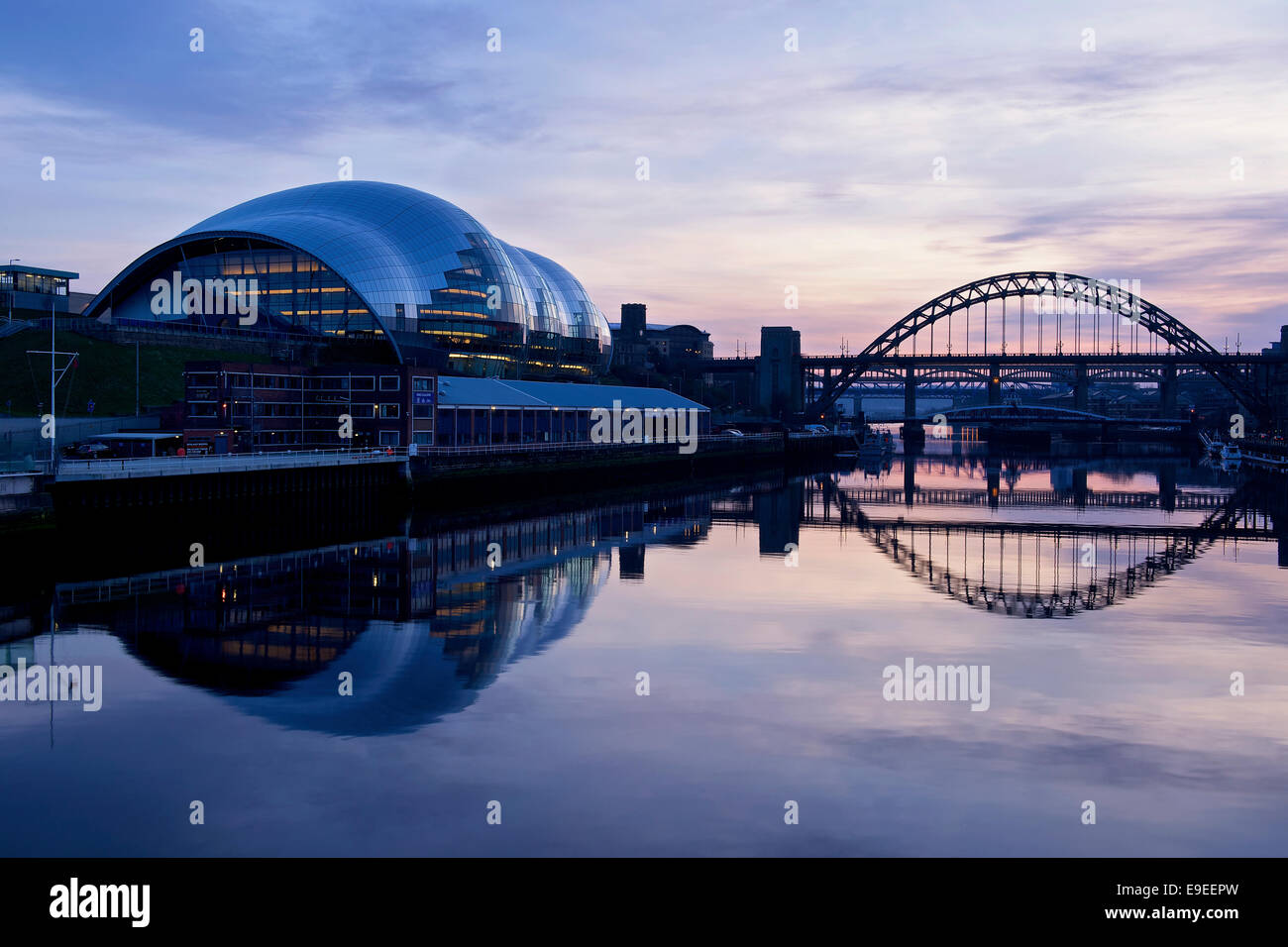 Sunset in Newcastle upon Tyne - Stock Image