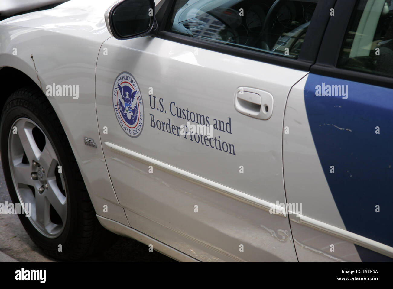 US Customs and Border Protection Department of Homeland Security vehicle. - Stock Image