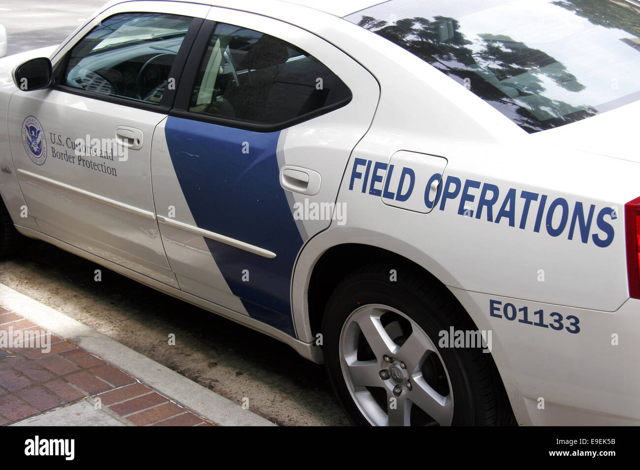 US Customs and Border Protection Department of Homeland Security field operations vehicle. - Stock Image