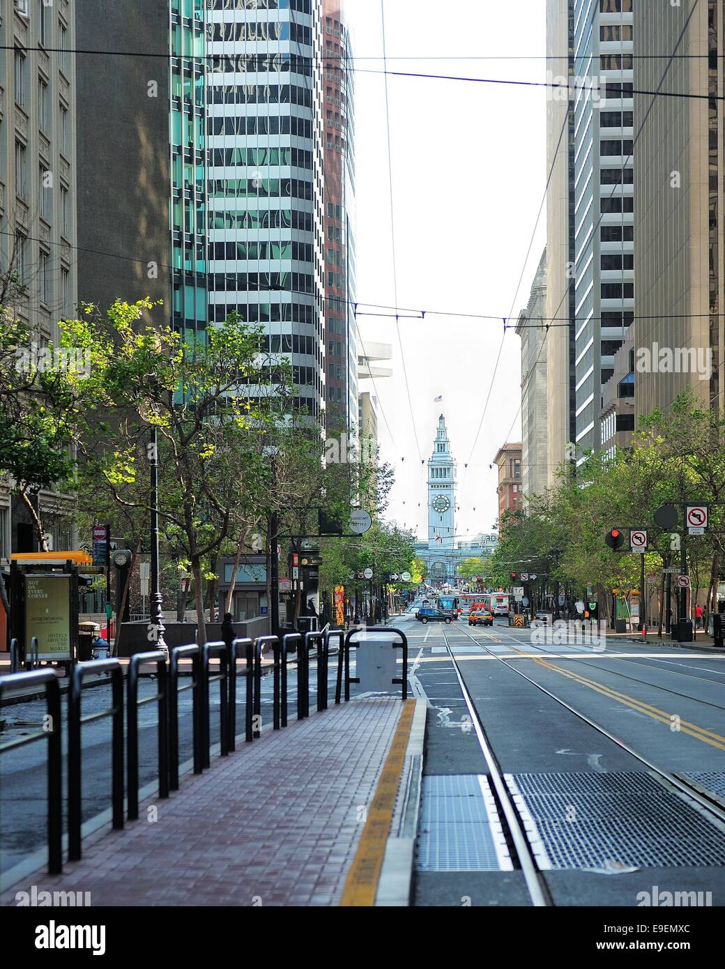 Light rail tracks in san francisco stock photo 74697124 alamy light rail tracks in san francisco aloadofball Images