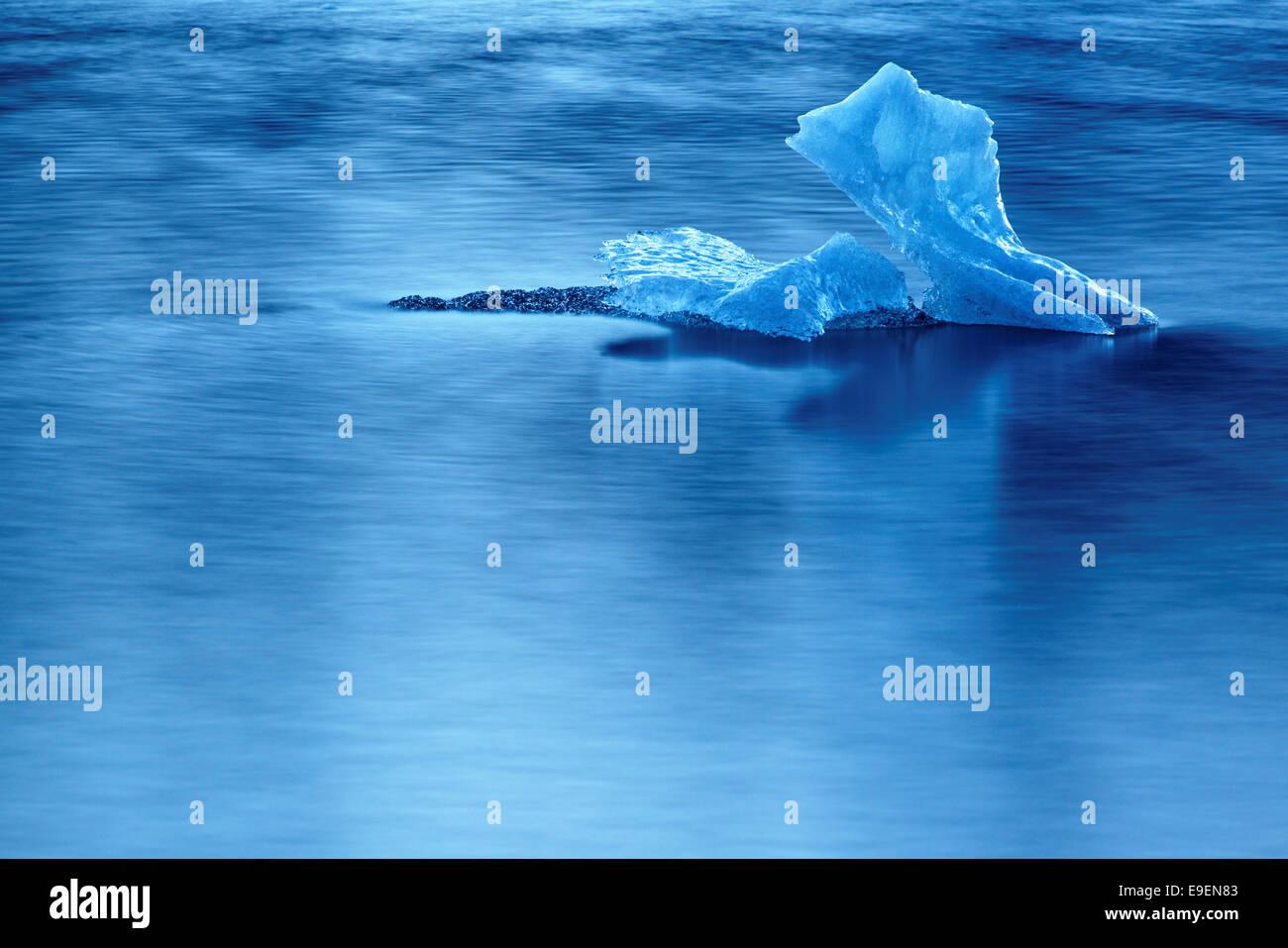 Iceberg in Mendenhall Lake, Juneau, Alaska, USA - Stock Image