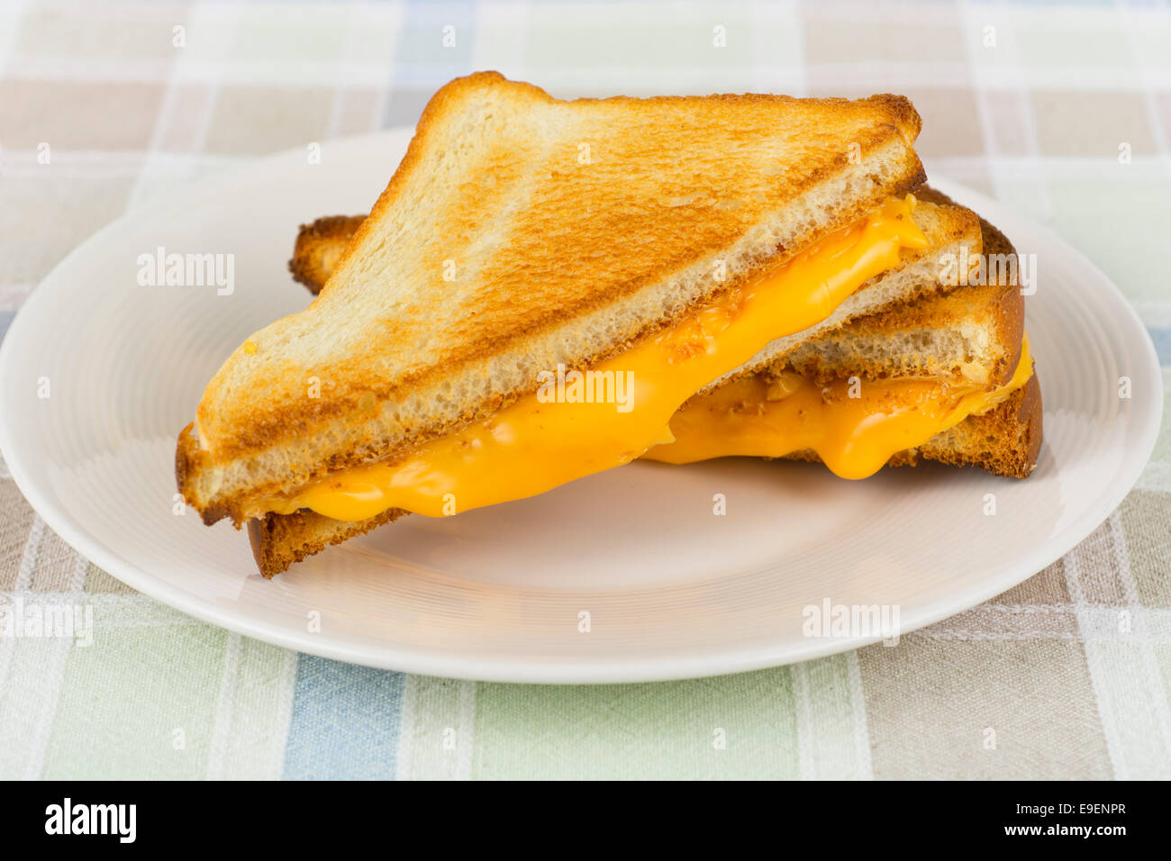 Grilled Cheese Sandwich, Hot Melting Cheese - Stock Image