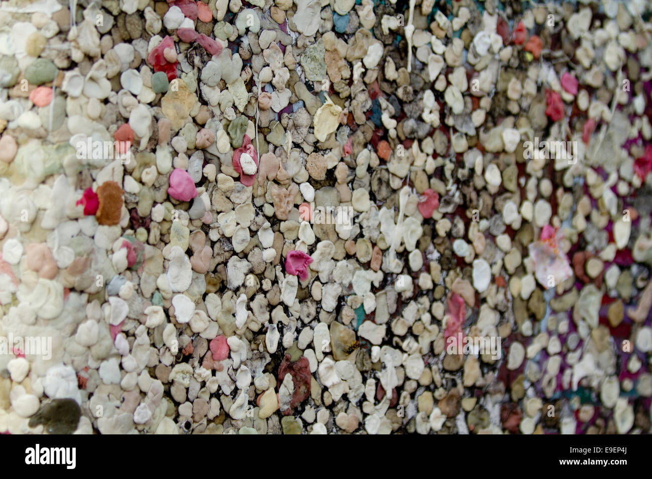 wall of chewing gum stuck on texture Berlin Wall - Stock Image