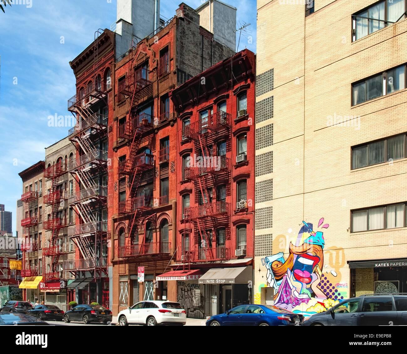 Old brick buildings in New York Stock Photo