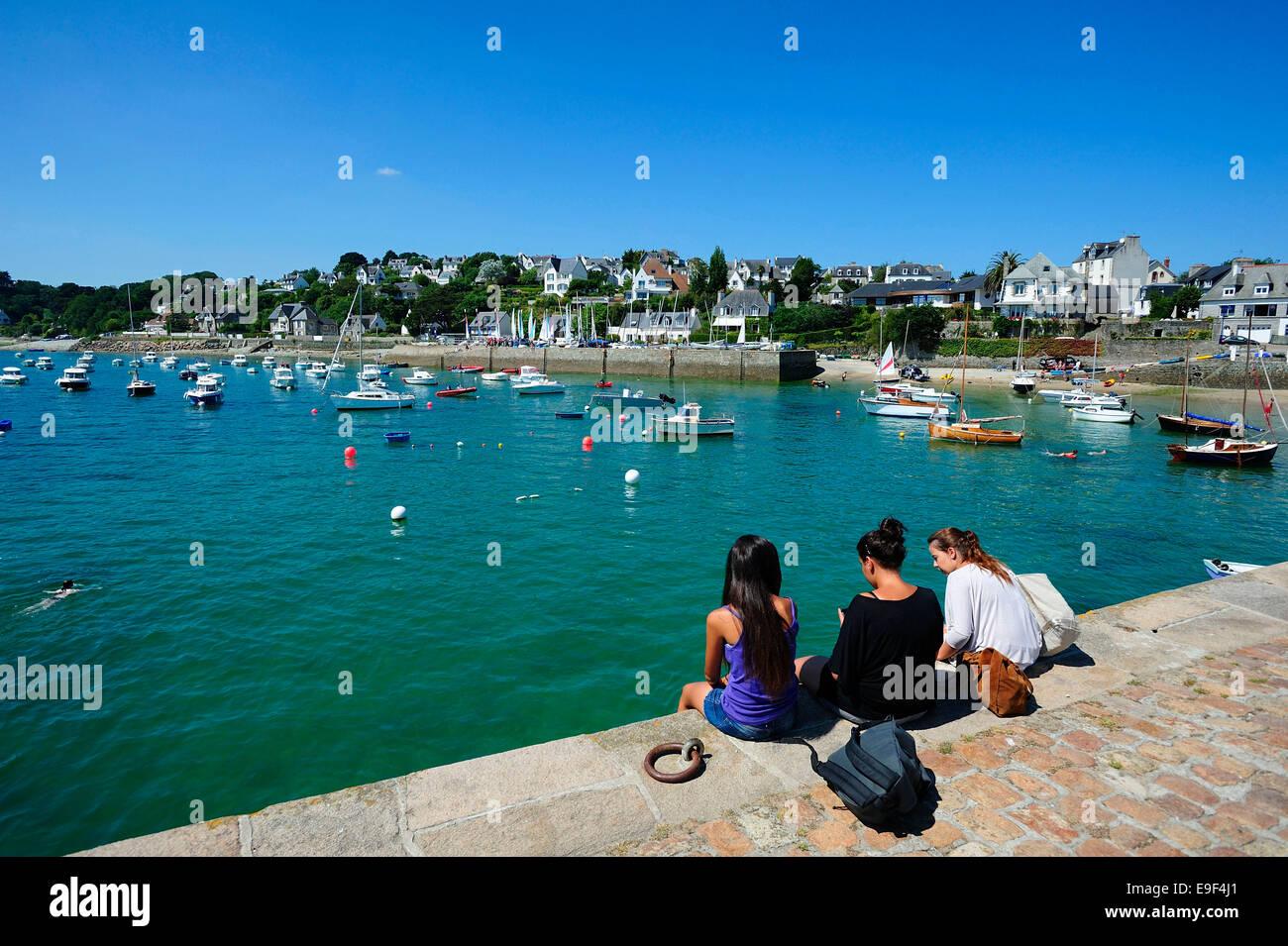 Locquirec (Brittany): the quays - Stock Image