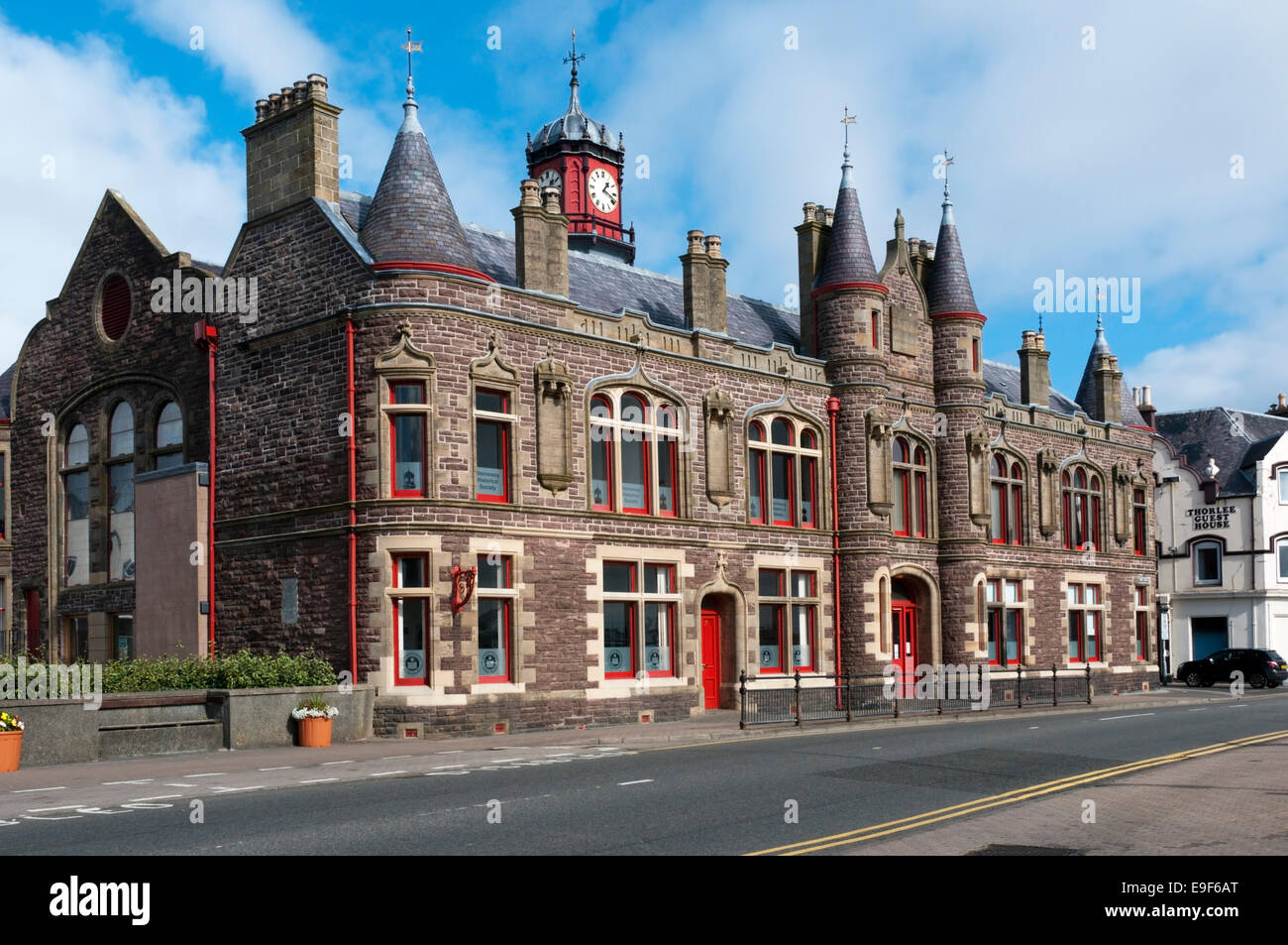 Stornoway old town hall on the Isle of Lewis, Outer Hebrides. - Stock Image