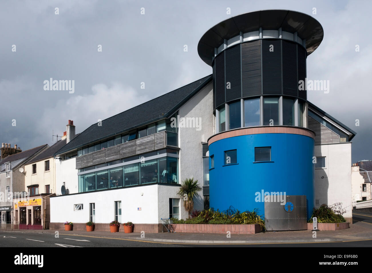 The An Lanntair Arts Centre in Stornoway, Isle of Lewis. - Stock Image
