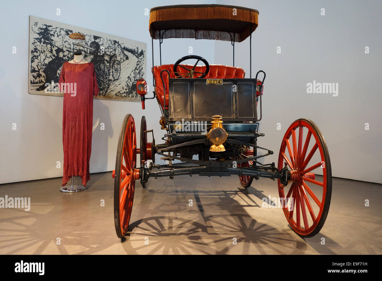 1898 Winner, 2 cylinder at Car, Automobile Museum of Málaga, Andalusia, Spain. - Stock Image
