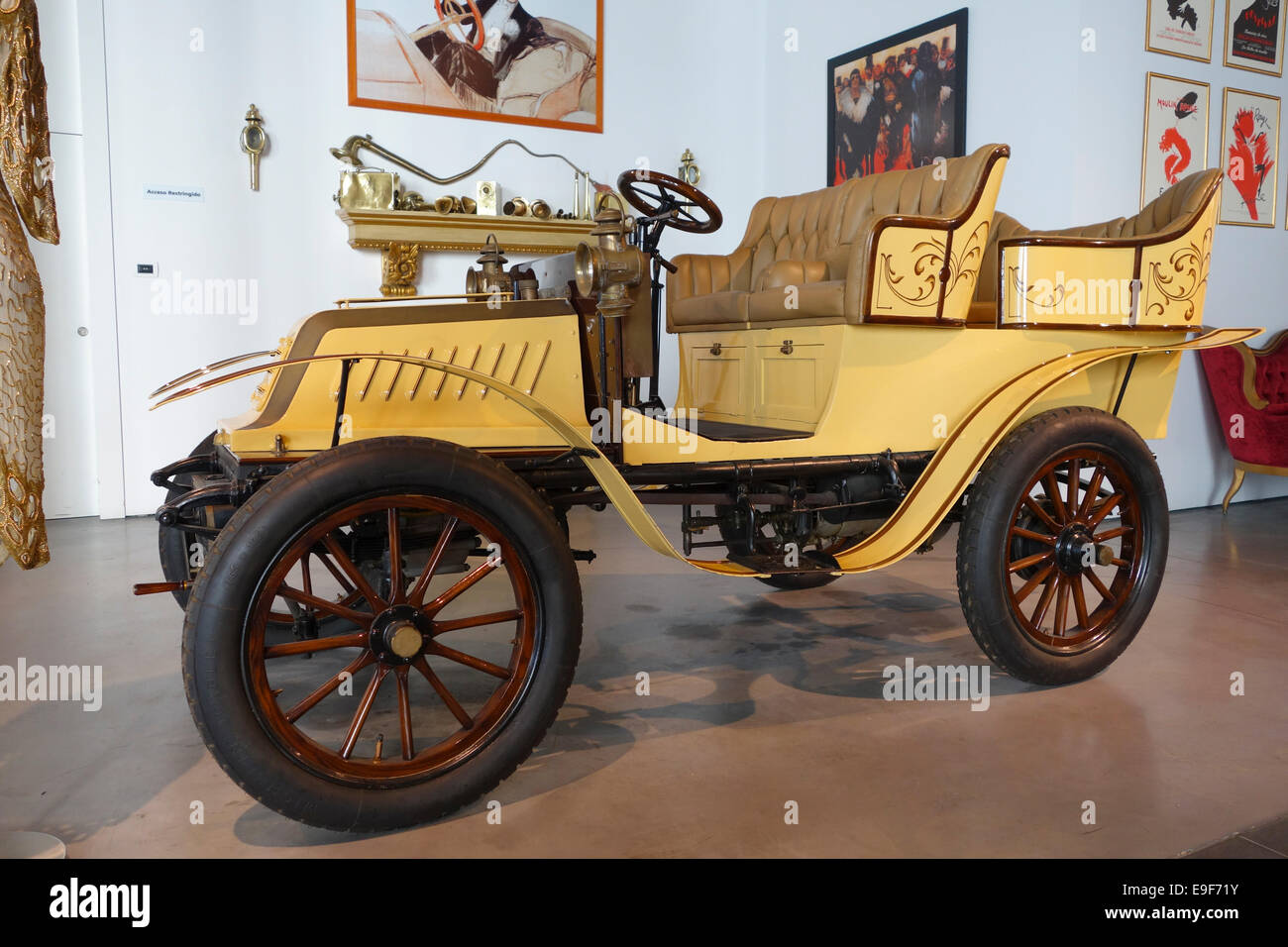 De Dion-Bouton - France 1904 at Car, Automobile Museum of Málaga, Andalusia, Spain. - Stock Image