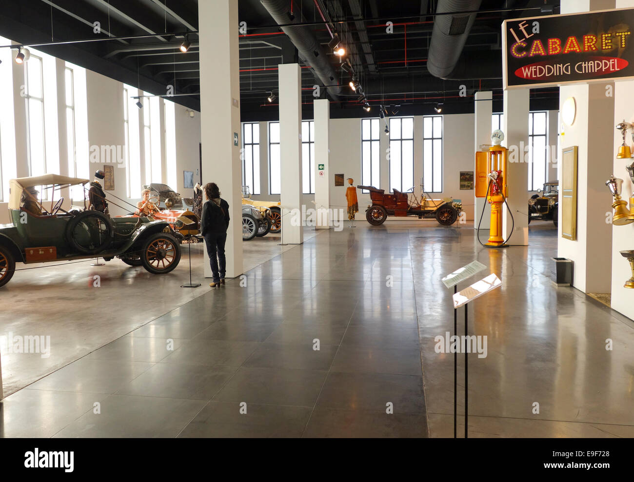 Over view of Automobile Museum of Málaga, Andalusia, Spain. - Stock Image