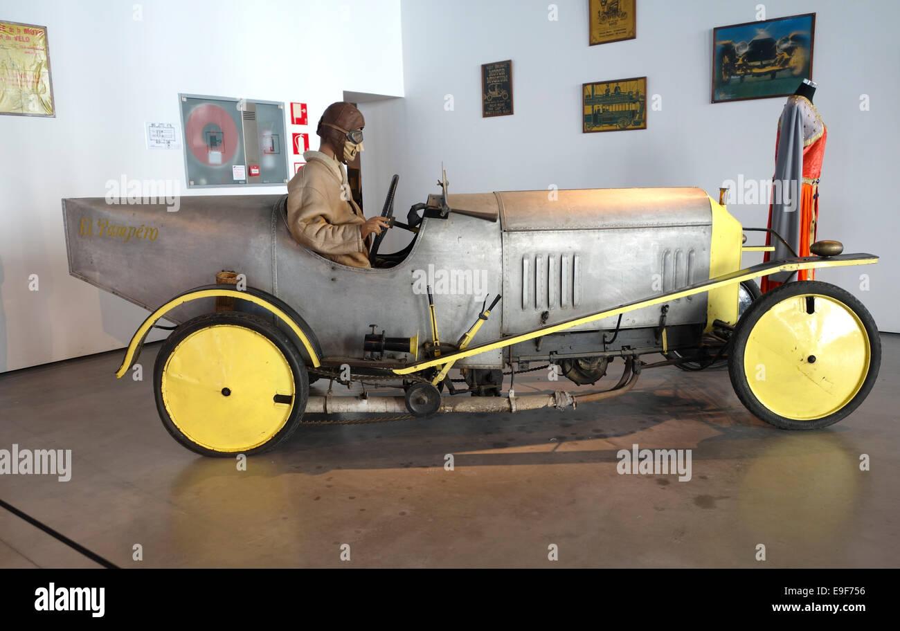 Barron Lee Ackroyd 1912 (El Pampéro) at Car, Automobile Museum of Málaga, Andalusia, Spain. - Stock Image