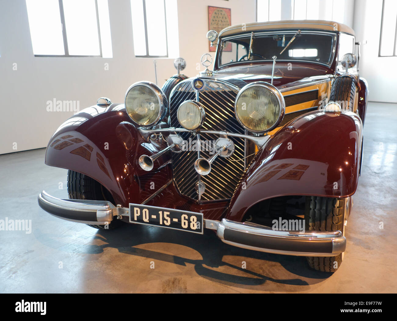 Mercedes Benz, 1937 at Car, Automobile Museum of Málaga, Andalusia, Spain. - Stock Image