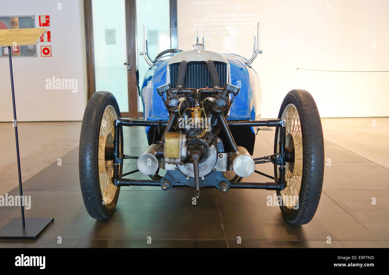 1928 Morgan Three Wheeler at Car, Automobile Museum of Málaga, Andalusia, Spain. - Stock Image