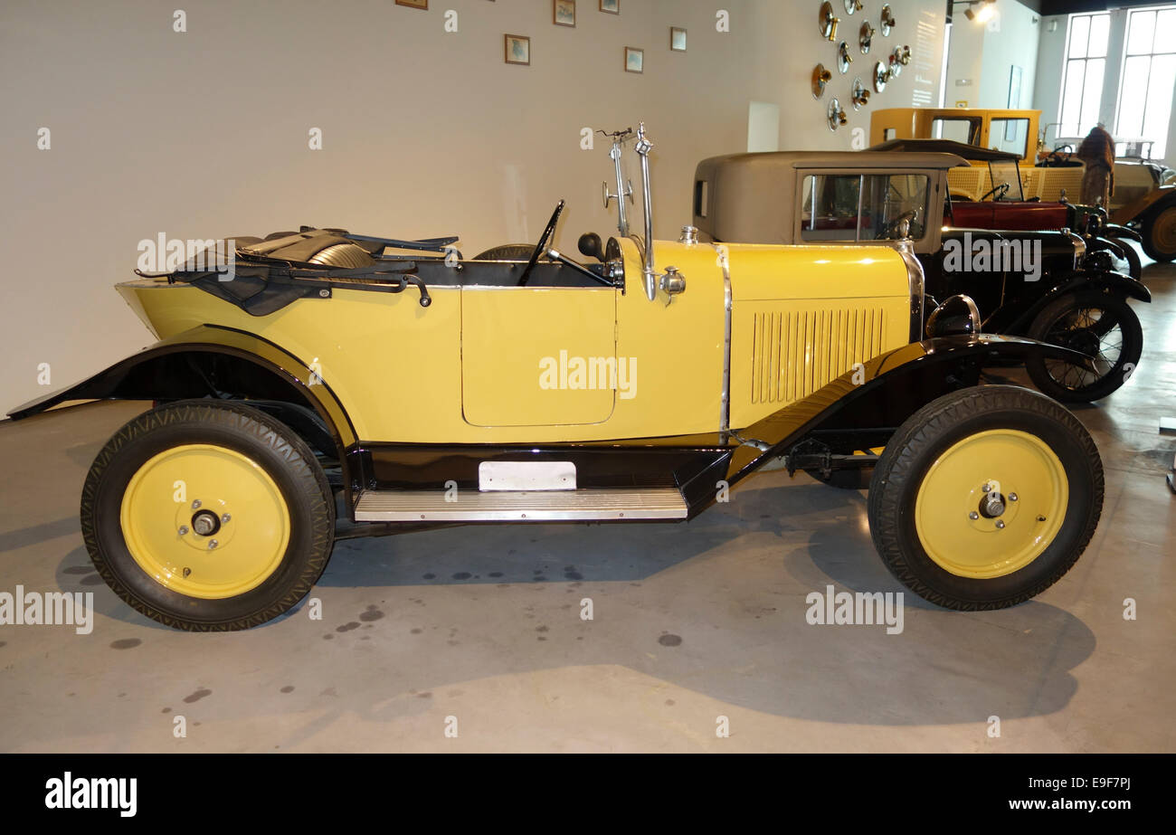 1921 Citroen, 4 cylinder, the first car market for women at Car, Automobile Museum of Málaga, Andalusia, Spain. - Stock Image