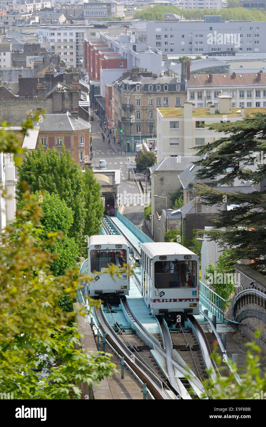 Le Havre (Normandy region): the funicular - Stock Image