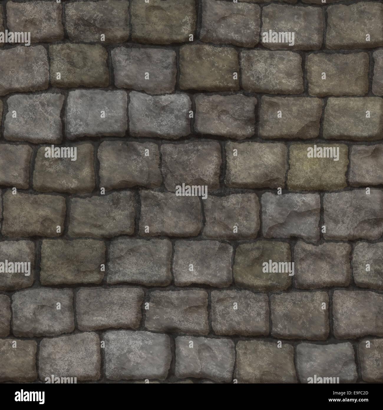 Seamless stone wall - Stock Image