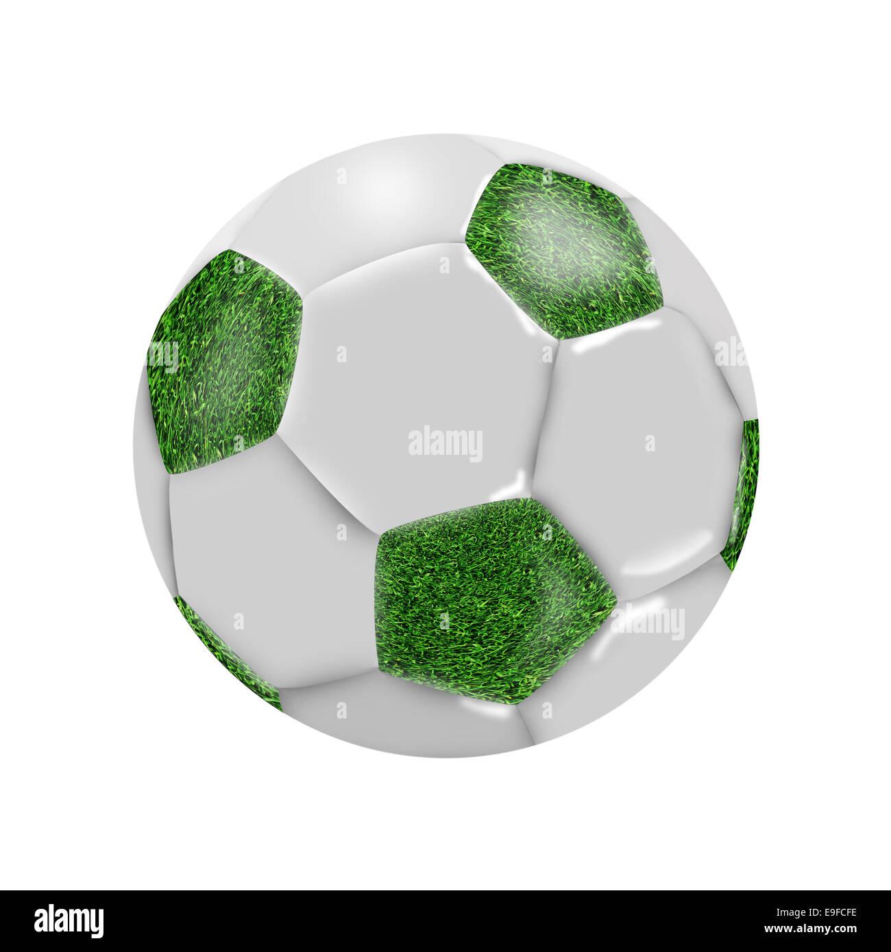 Soccer ball on white - Stock Image