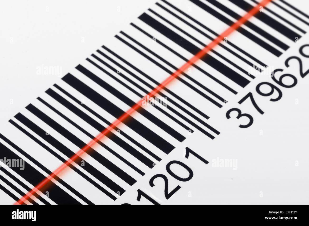 Scanning barcode - Stock Image