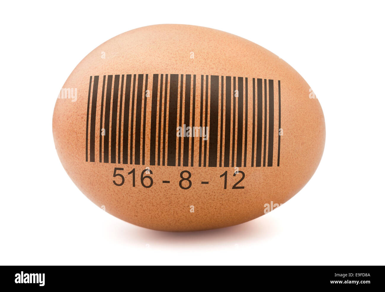 Egg with barcode - Stock Image