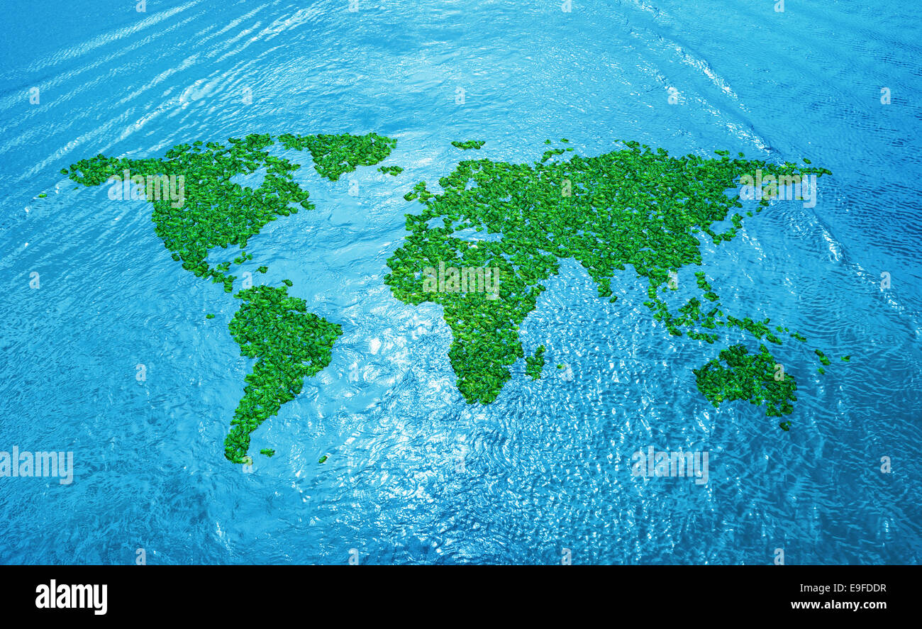 abstract world map - Stock Image
