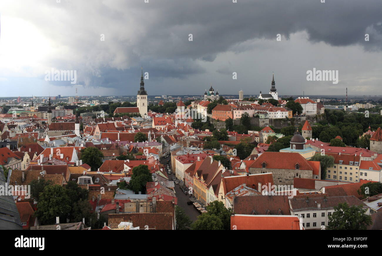 red tiled roofs - Stock Image