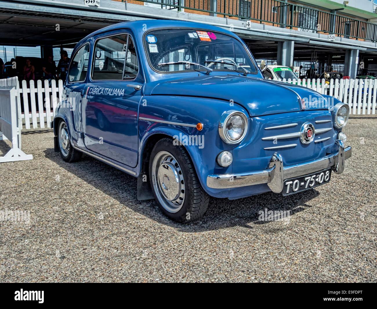 Jarama, Madrid, Spain. 07 - June:  The city car Fiat 600 Seicento - Stock Image