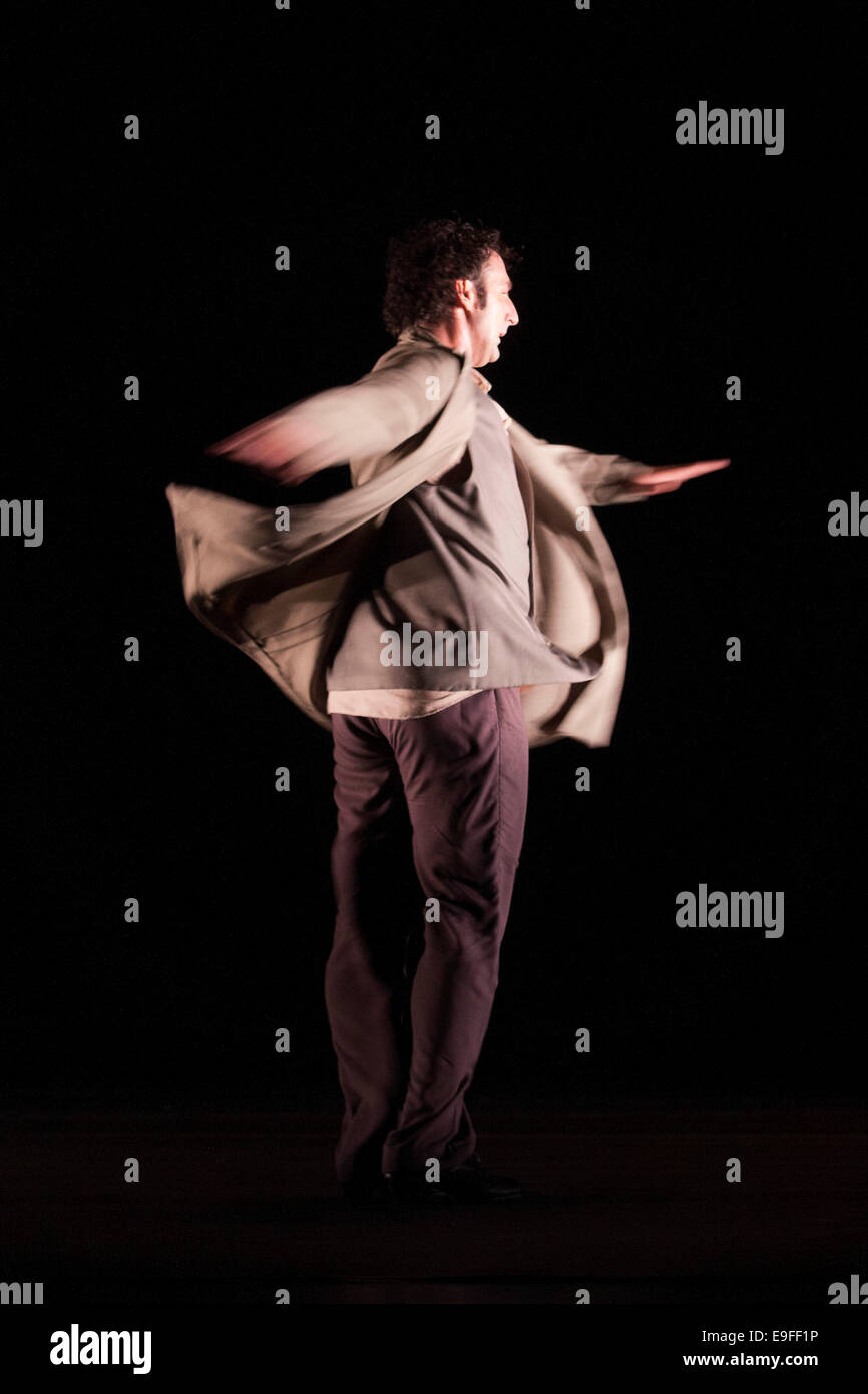 Paco Peña spanish flamenco with his show Patrias, explores through music the emotional, physical and cultural - Stock Image