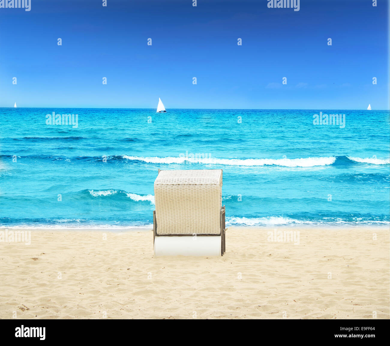 Beach in Summertime Stock Photo