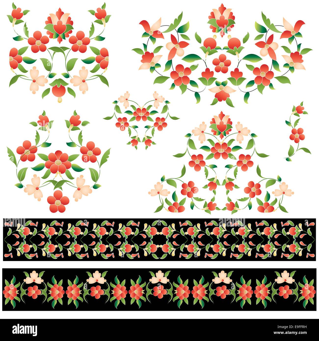 elegant pattern version - Stock Image